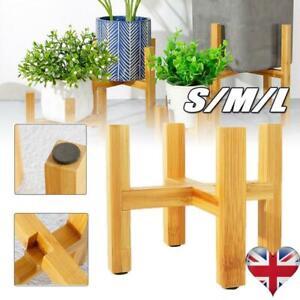 Wooden Shelf Rack Holder Plant Flower Pot Stand Wood Home Garden Display Tool