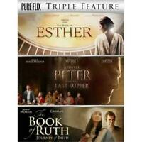 THE BOOK OF ESTHER + APOSTLE PETER AND THE LAST SUPPER + BOOK OF RUTH New DVD