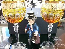 Rosenthal VERSACE Prestige Gala 2 x Rotweingläser Amber 0,29 l. ***NEU & OVP***
