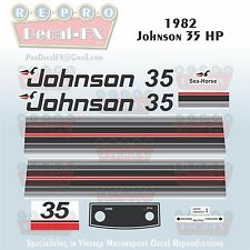 1982 Johnson 35 HP Sea-Horse Outboard Reproduction 14 Piece Marine Vinyl Decals