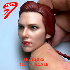 "1:6 Scale Widow Scarlett Head Sculpt For 12"" Female Phicen Tbl Figure Toys Black"