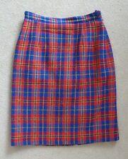 Precis Petite Red Blue Yellow Green Tartan Plaid Wool Blend Skirt Size 8 VGC