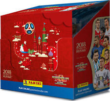 BOX DISPLAY 2018 Russia World Cup Panini Adrenalyn XL 50 Booster + 6 x Limited