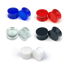 Pair of Acrylic Double Flare Plugs set plugs gauges Choose Color/Size