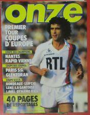 Magazine ONZE n°93 SEPTEMBRE 1983 poster PSG NANTES Rocheteau LAVAL LENS MADJER
