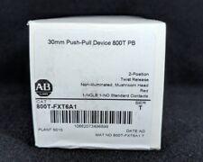 ALLEN BRADLEY 800T-FXT6A1 30.5mm Type 4/13 2 Pos. PB-Non-Illum., Mushroom Hd