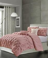 Olivia Gray Westwood Smocked 5 Piece Queen Comforter Set Blush