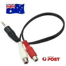 New 3.5mm Stereo Audio Male to 2RCA 2 RCA Female Splitter Cable AUX Adapter Cord