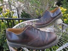 DR. MARTENS AIR CUSHION SOLE MENS 13 BROWN LEATHER LACED LOAFER SHOES