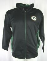 Green Bay Packers Men's Black Majestic Full Zip Hooded Sweatshirt NFL L  2XL