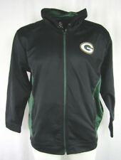 Green Bay Packers NFL Men's Black Majestic Full Zip Hooded Sweatshirt
