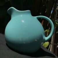 RARE MCM Ice Blue 1940s Franciscan Pottery Ceramic Ball Jug Pitcher 99 Cali