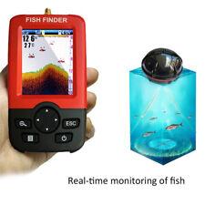100M Portable Remote LCD Monitor Sonar Sensor Fish Finder Fishfinder Fishing BU