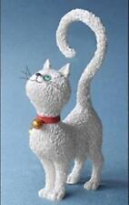 """""""WHAT'S FOR DINNER?"""" ALBERT DUBOUT WHITE CAT KITTEN STATUE SCULPTURE France"""