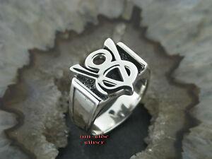 Silberring Ring V8 Feingehalt Massiv Silber 925 V8 Motor Liebhaber Chevy Dodge