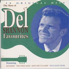 Del Shannon Favourites: 18 Original Hits (CD, 1998, EMI Australia) VERY GOOD