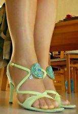 SANDRO VICARI Verde Leather EU36,5 Sandalen sandales sandali High Heels Pumps