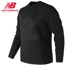 New Balance Men's Essential Crew Sweatshirt (S) Small Black