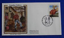 """Canada (1435) 1992 Folklore - Jos Monferrand Colorano """"Silk"""" FDC"""