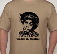 Sanford and Son t shirt Aunt Esther / Shady Grady Watch it Sucka! Big Sizes tan