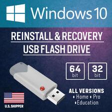 Windows 10 USB Bootable Reinstall Upgrade Restore Repair All Versions 64 32 bit