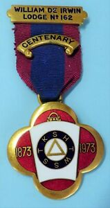 Masonic Mark Lodge Centenary Jewel William De Irwin Lodge No 162