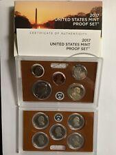 2017-s U.S. Clad 10 Coin Proof Set. 2 sets in 1. Proof Set, .25 set & $1 set