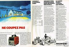 Publicité advertising 1980 (2 pages) Le Groupe electrogène Honda