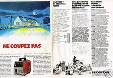 Publicité advertising 1980 (2 pages) Le Groupe electrogène Honda