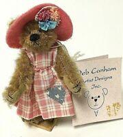 "Deb Canham Limited Edition HATTIE Miniature 3.5"" Mohair Bear"