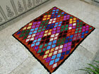 Moroccan Handmade Vintage Berber Rug Azilal Tribal Rug Beni Ourain Carpet