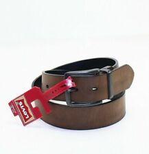 Levi's Brown Gunmetal Cut Edge Reversible Usa Leather Belt Brown Size 30