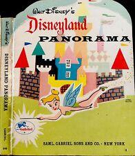 WALT DISNEY'S DISNEYLAND PANORAMA ~ Vintage Children's Foldout Board Book