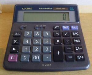 Vintage Casio D-20ER Desktop Two Way Power 12 Digits Calculator WORKING