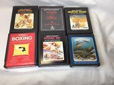 Lot Of 6 Atari Games Cartridegs, Dodge Em, Shark Attack, Haunted House (!!!!!)