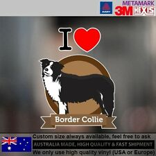 Border Collie Illustration Sticker Style Custom cute Gift  9.9 cm  x 12.8 cm
