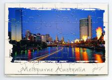 Melbourne Australia Jigsaw Magnet, Image, Fridge Magnet, Souvenir.