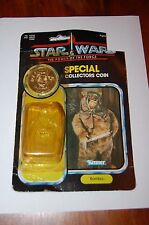 Romba Sealed Coin-Star Wars-POTF Power of the Force-Vintage ?AFA? Ewok w/Bubble