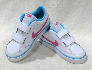 Nike Capri 3 LTR (TDV) White/Pink/Clearwtr Toddler Girl's Sneakers-Asst Size NWB