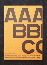 ABC Radical Architecture Reprint 1924-1928 EL LISSITZKY LE CORBUSIER Tschichold