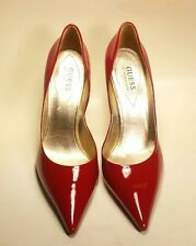 """GUESS """"Carrie"""" Red Patent Leather Pointy Toe Stiletto Heels Pumps Women's 9.5 M"""