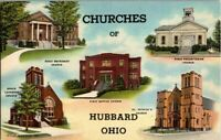 1940'S. CHURCHES OF HUBBARD, OHIO. POSTCARD EP23