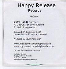 (BO939) Dirty Hands, Get On Yer Bike Charlie - 2007 DJ CD