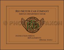 REO Service Manual 1918 1917 1916 1915 1914 1913 1912 1911 1910 Repair Shop Book