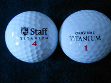"20  WILSON ""STAFF AND ORIGINAL TITANIUM ETC."".- Golf Balls - ""PEARL/A"" Grades."