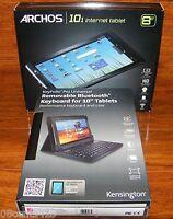 8GB Archos 101 Internet Wi-Fi Tablet & Bluetooth Keyboard w/ Case Bundle *MINT*