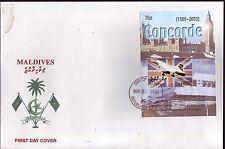 5118+ CONCORDE   1er JOUR BLOC    MALDIVES  2004