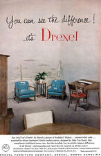 Drexel Profile Furniture JOHN VAN KOERT Gentle Curves MID CENTURY MODERN 1956 Ad