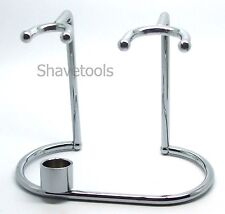 Deluxe Chrome Plated Razor and Brush Stand