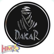 HM© - Dakar Aufkleber - 2 Stück - 95mm �˜ - schwarz-matt / chrom - AG-0023-CS